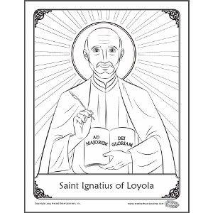 St Ignatius Coloring Page St Ignatius Of Loyola Catholic