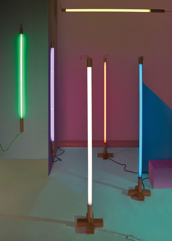 Leuchten Stehleuchten Linea Wandleuchte Mit Stromkabel Led L 134 Cm Seletti Weiss Glas Neongas Plastik Wandleuchte Neonrohren Leuchtstoffrohre