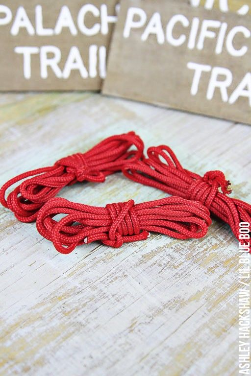 Easy DIY Rock Climbing themed Rope ornaments - Easy DIY Camping Ornaments DIY Ornaments, Christmas, Christmas
