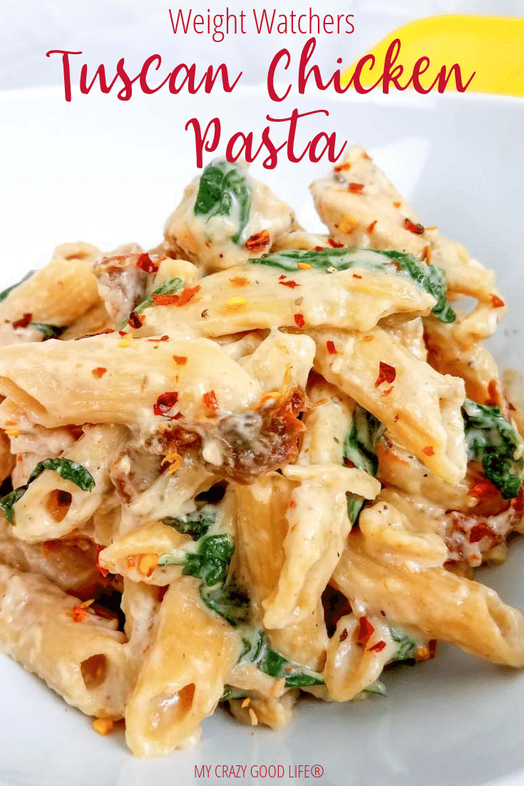 Weight Watchers Tuscan Chicken Pasta #healthyweeknightmeals