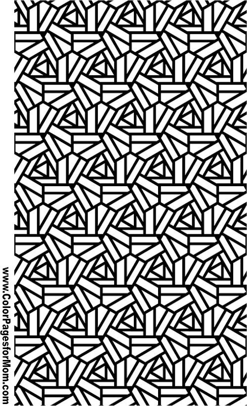 Geometric Coloring Pages Advanced : Geometric coloring page … pinteres…