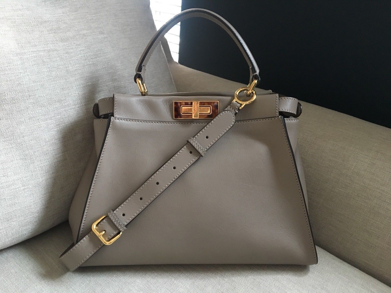 0d11c28b15 Rare Medium Fendi Peekaboo Bag- In Dove GREY