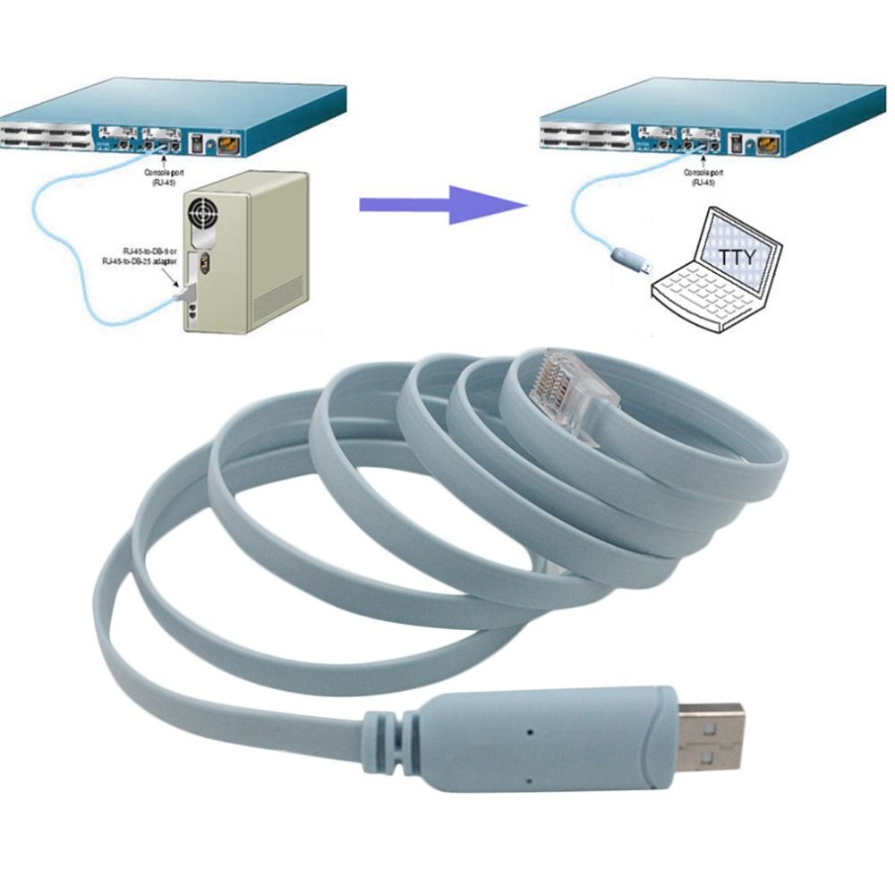 1 8m Length Cable Usb To Rj45 Console Serial Console Cable Express Network Routers Cable For Cisco Router For Huawi Usb Router Rj45