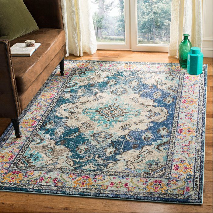 Ady Navy Light Blue Area Rug Km House Blue Area Rugs