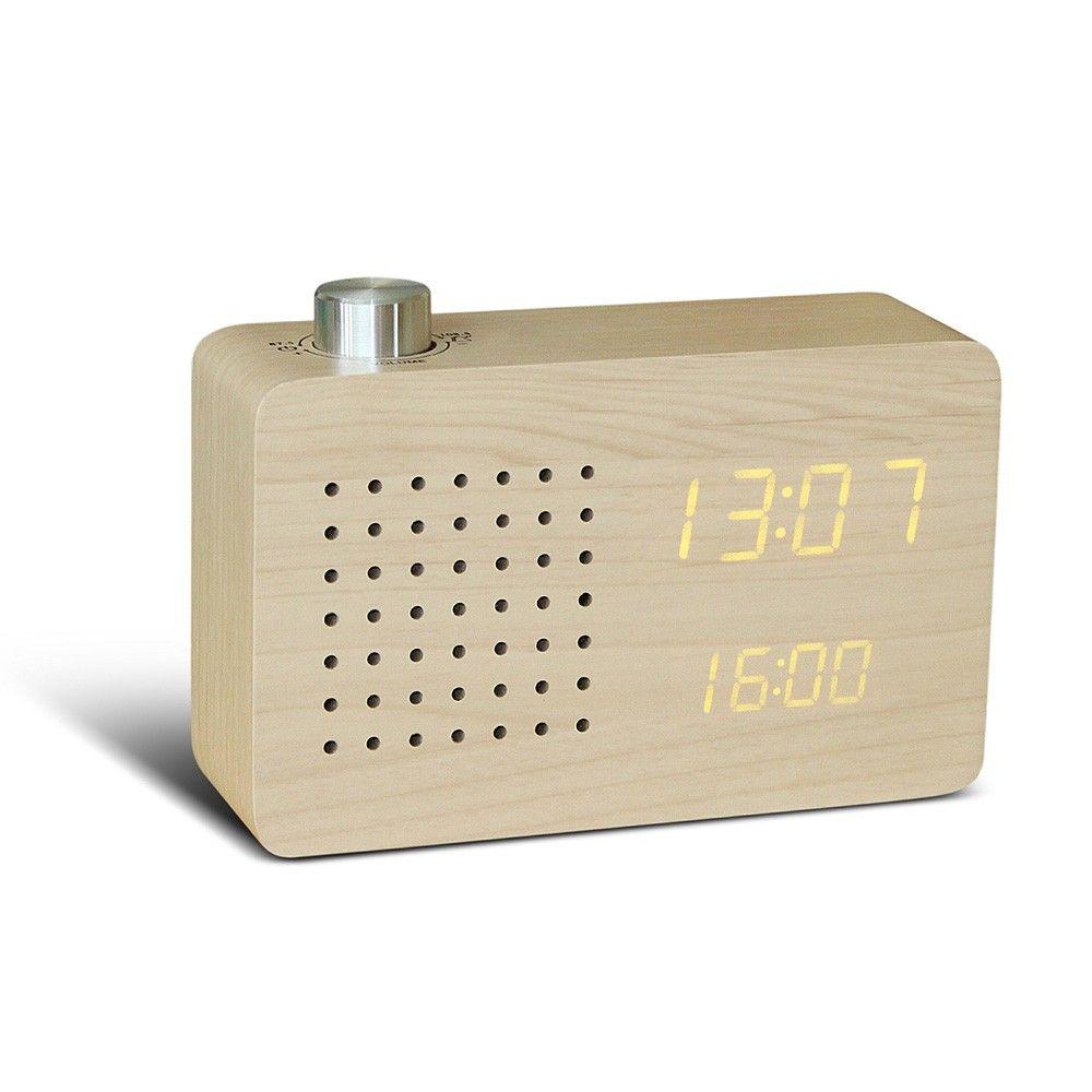 Radiowecker Radio Click Clock Ahorn Horloge Radio Reveil Reveil