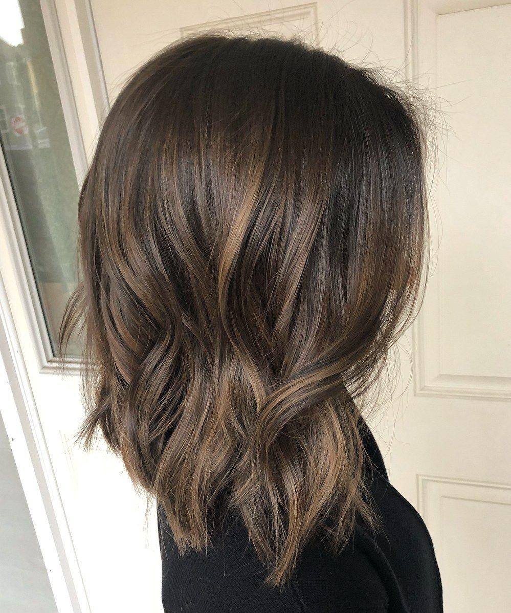 Medium Wavy Shag With Babylights Short Hair Balayage Balayage Hair Hair Styles