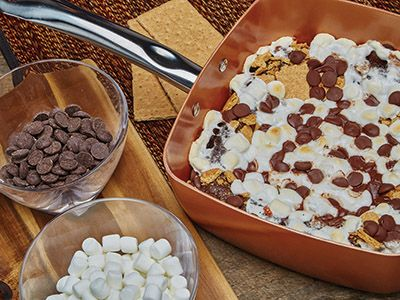 Smores Cake Recipes Comfort Foods In Copper Sq Pan