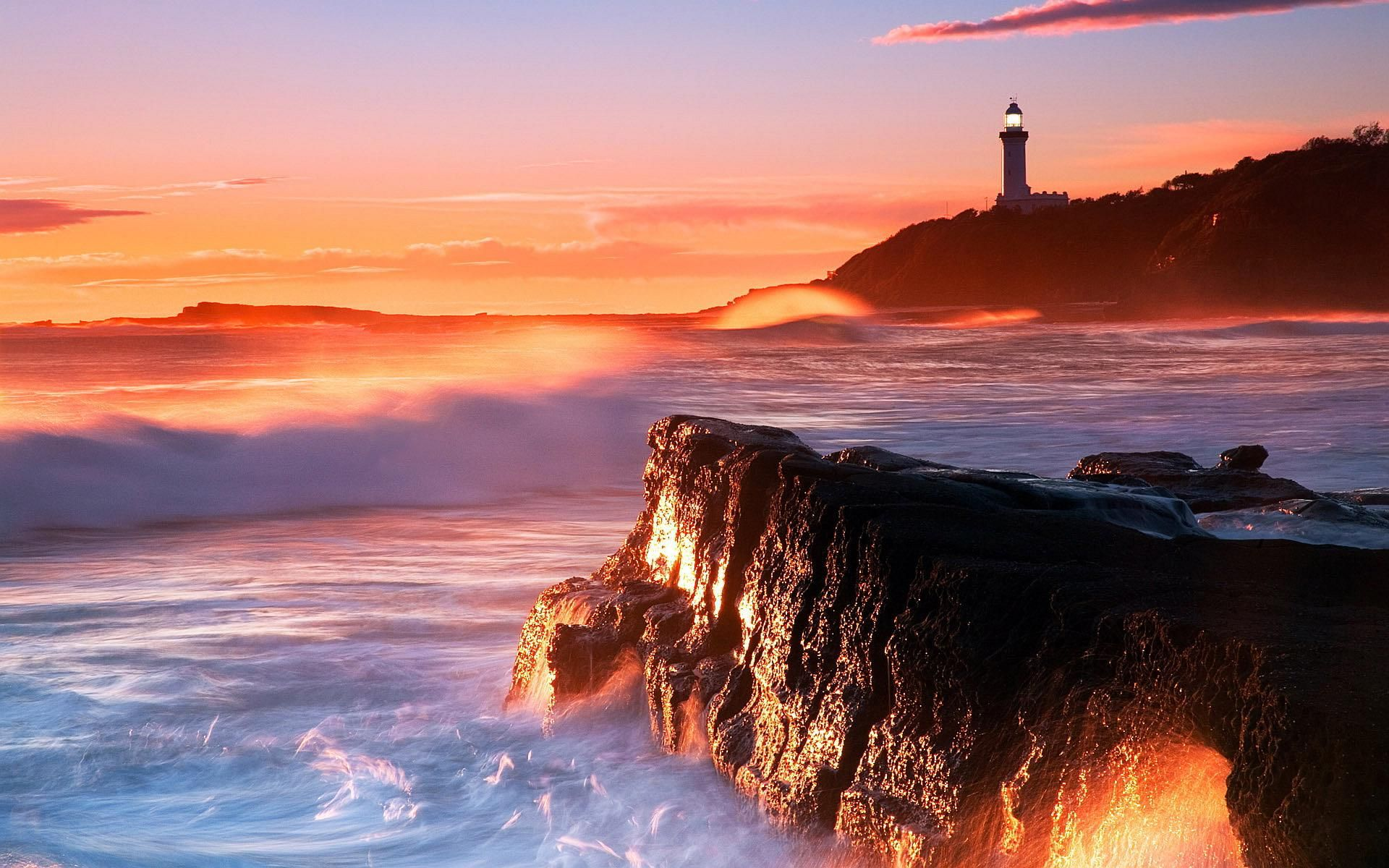 lighthouse sunset wallpaper get free top quality lighthouse sunset wallpaper for your desktop pc background