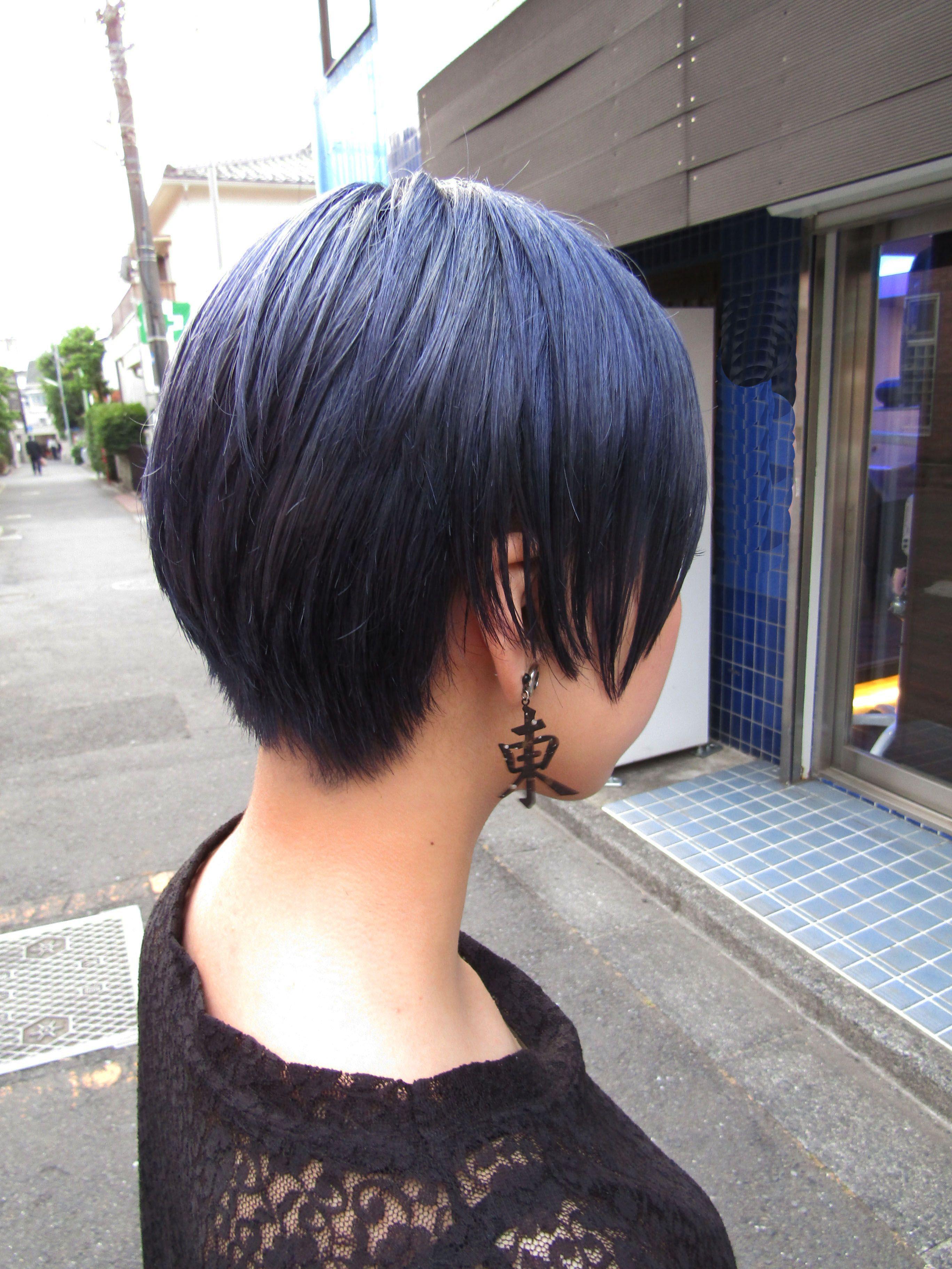 Shorthair Navyhair Haircolor Hair Color Koenji Hairsalon