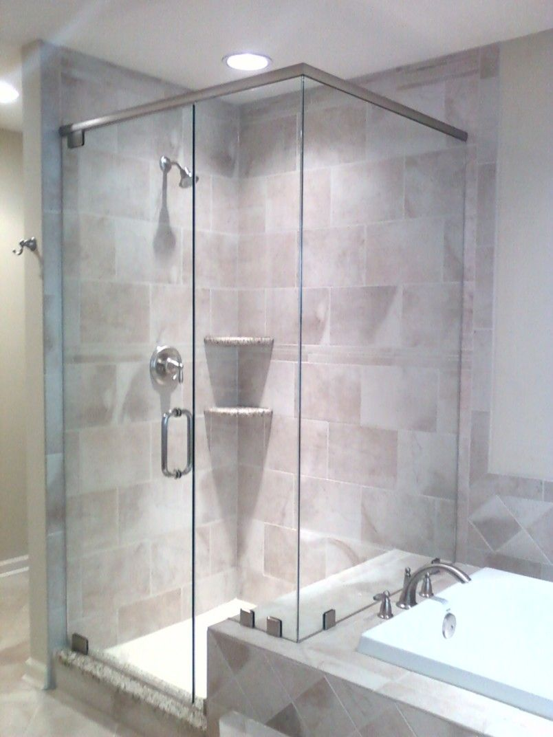 Frosted Glass Shower Doors Frameless To Create A Luxury Bathroom