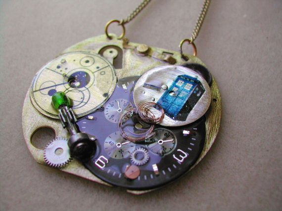 Tardis Control Panel Doctor Who necklace