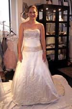 This wonderful Wedding Dresses Ravishing Strapless Neckline for Formal Satin Wedding Dress This beatiful women wedding dress use the Satin material, the front Strapless neckline compose this elegant and charming dress. A-line outline match with your unique and sexy appeal. Dressaler.com offer you the best Ball Gown Wedding Dress There must be one for you. - $155.69