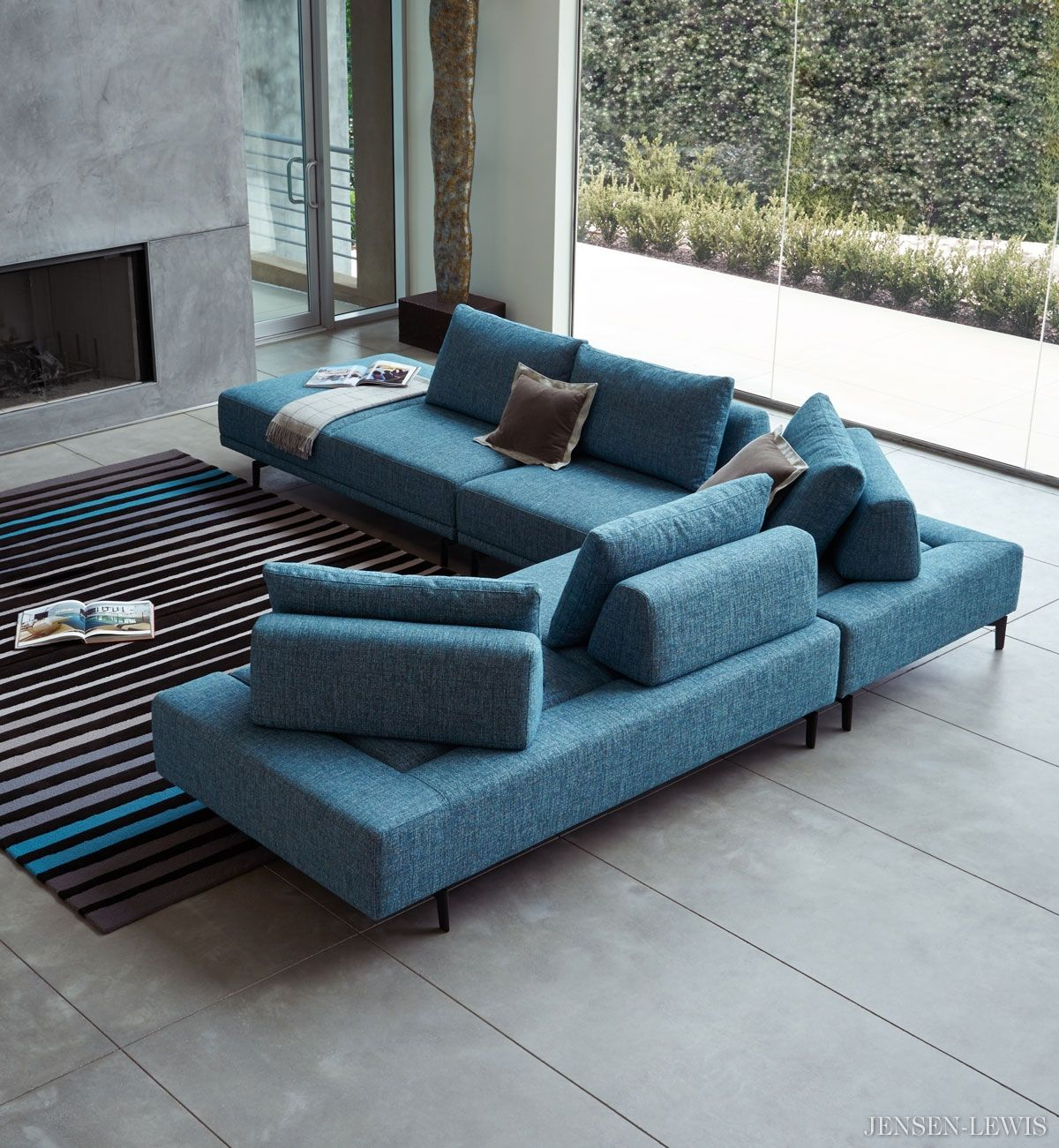 Dellarobbia Felix Modular Sectional Sofa Living Room Sofa Design
