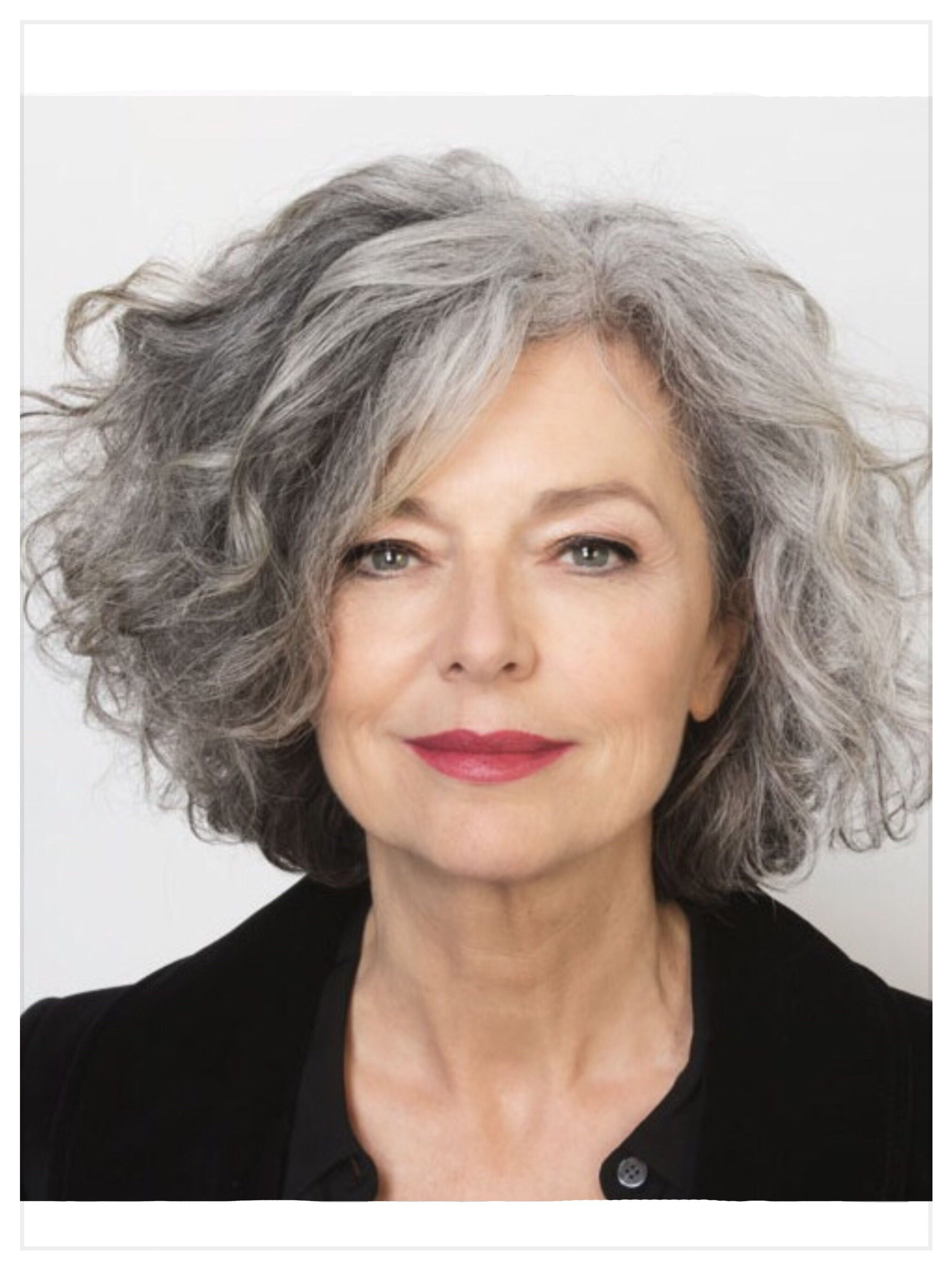 Grey And Glorious Medium Hair Styles Curly Hair Styles Grey