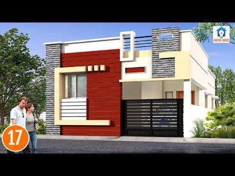 Individual houses modern front elevations    single floor home     Individual houses modern front elevations    single floor home designs    House  Elevations   02   YouTube