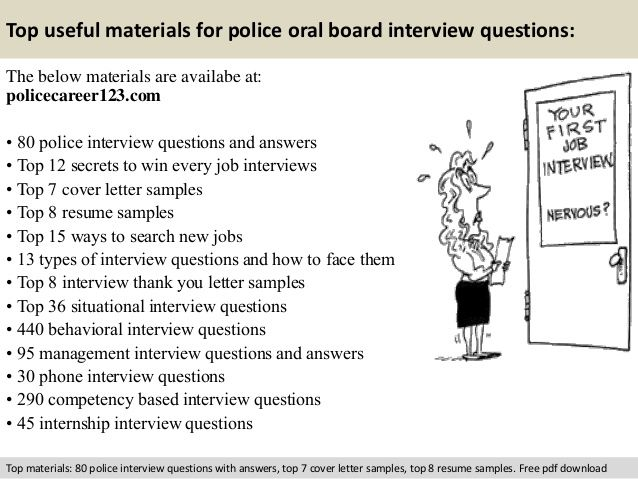 Police oral board interview questions | randoms | Interview