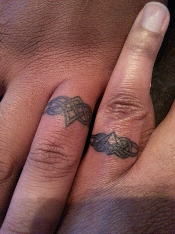 Mens Tattooed Wedding Bands | tattoo | Pinterest | Gaelic tattoo ...