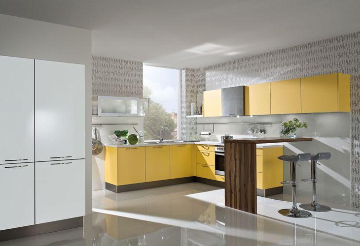 Küche in Gelb #Offeneküche wwwdyk360-kuechende Gelbe Küchen - bilder offene küche