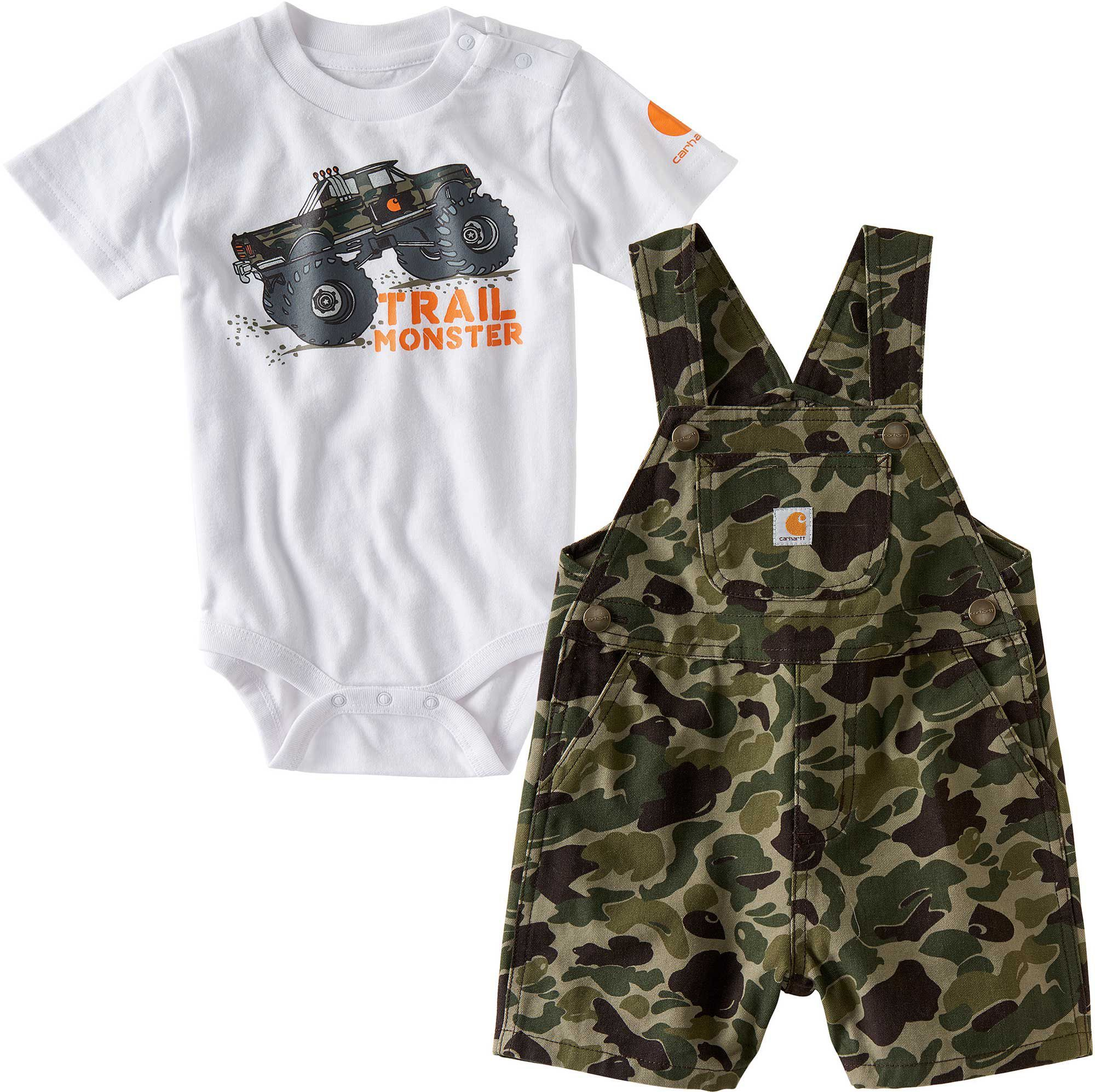 a5ca0236b Carhartt Infant Boys' Trail Monster Overall Set, Size: 9M, Green ...