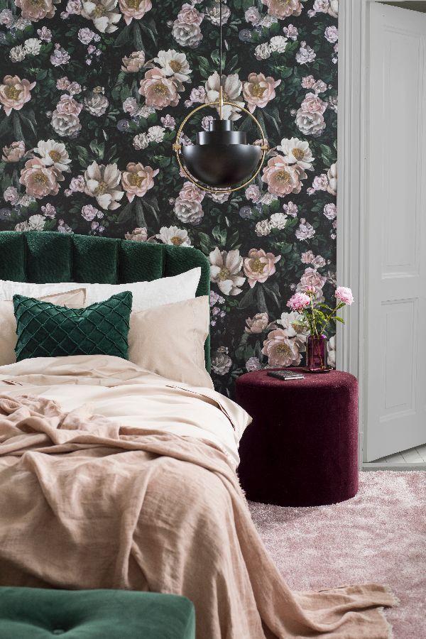 Best New Dawn Rose By Boråstapeter Black Wallpaper 7234 400 x 300