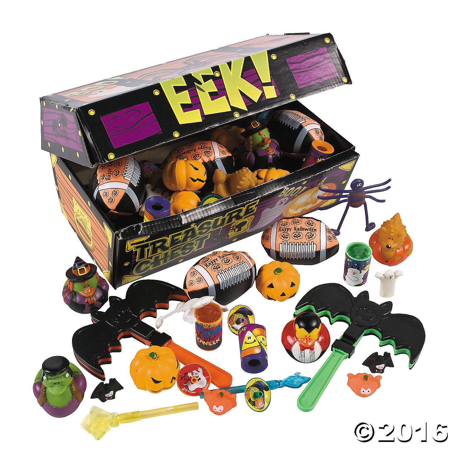 deluxe halloween treasure chest toy assortment