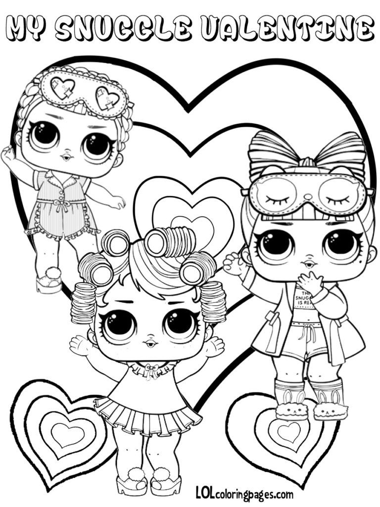 LOL Surprise Doll Series 3 Valentines Coloring Page | imprimible ...