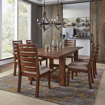 Corrine 7 Piece Dining Set 7 Piece Dining Set Solid Wood Dining Room Dining Table Dimensions