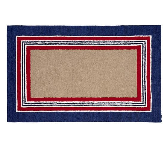 Tailored Striped Rug   Navy/Red | Pottery Barn Kids