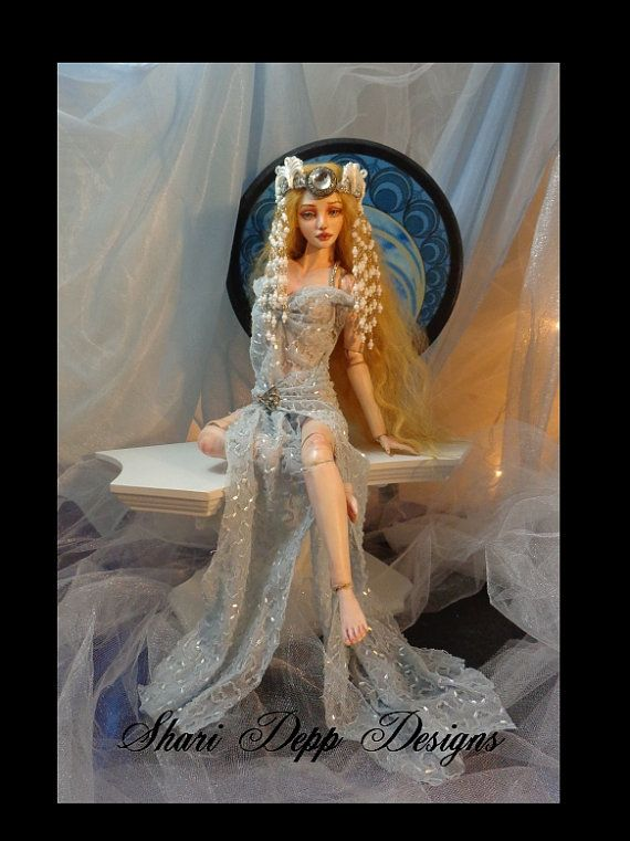 One of a Kind Ice Blue Beaded Fantasy Style by ShariDeppDesigns, $125.00