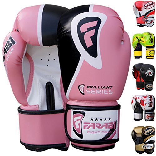 Farabi Pro Safety Tech Fighter MMA Muay Thai Training Sparring Boxing Kickboxing Punching Gloves mitts