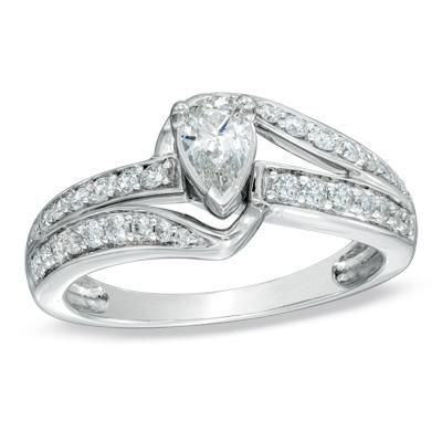 Pear Shaped Engagement Ring Zales 3