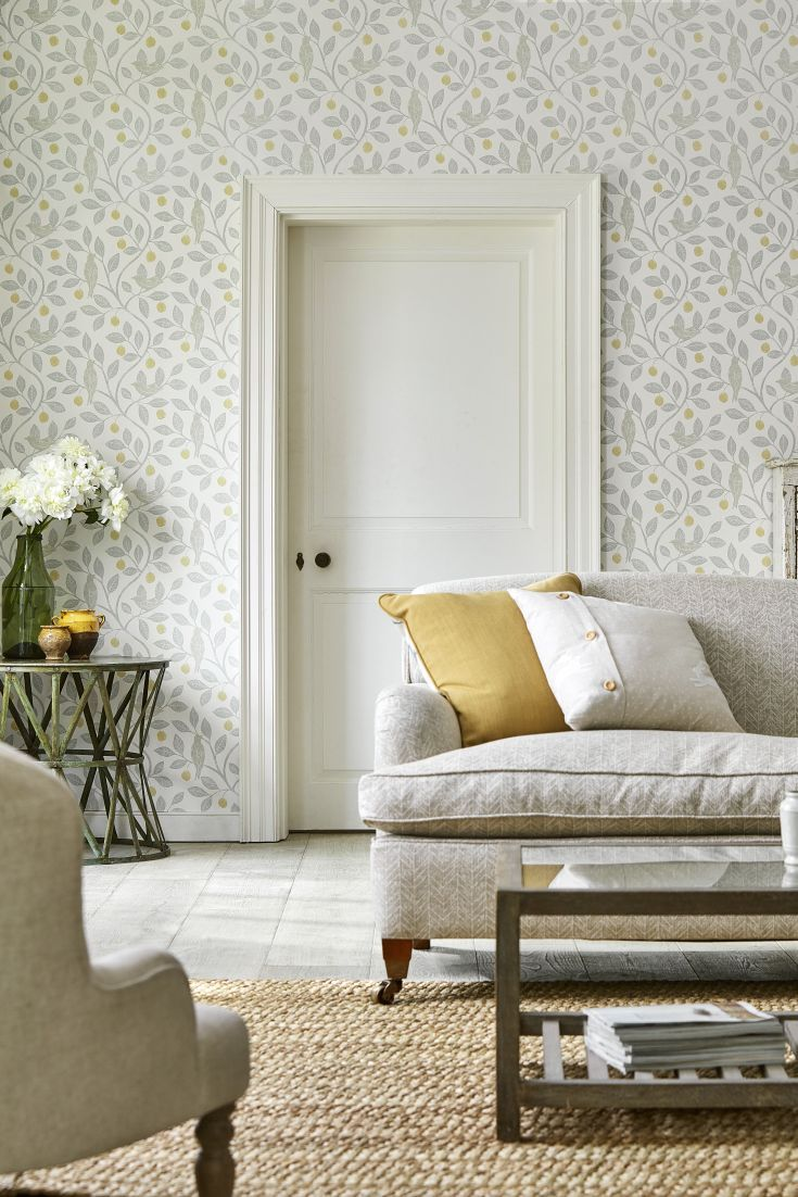 Tree Design Wallpaper Living Room: Lovely New Wallpapers By Sanderson Home Now Available