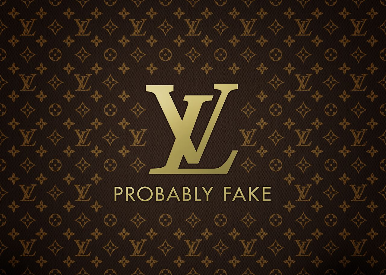 Louis Vuiton Probably Fake, via Honest Slogans Funny