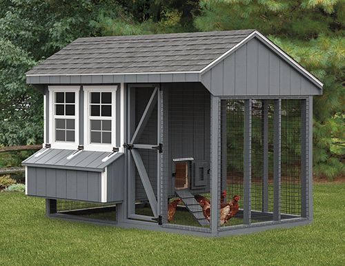 Image Result For White Chicken Coop With Shutters With Images