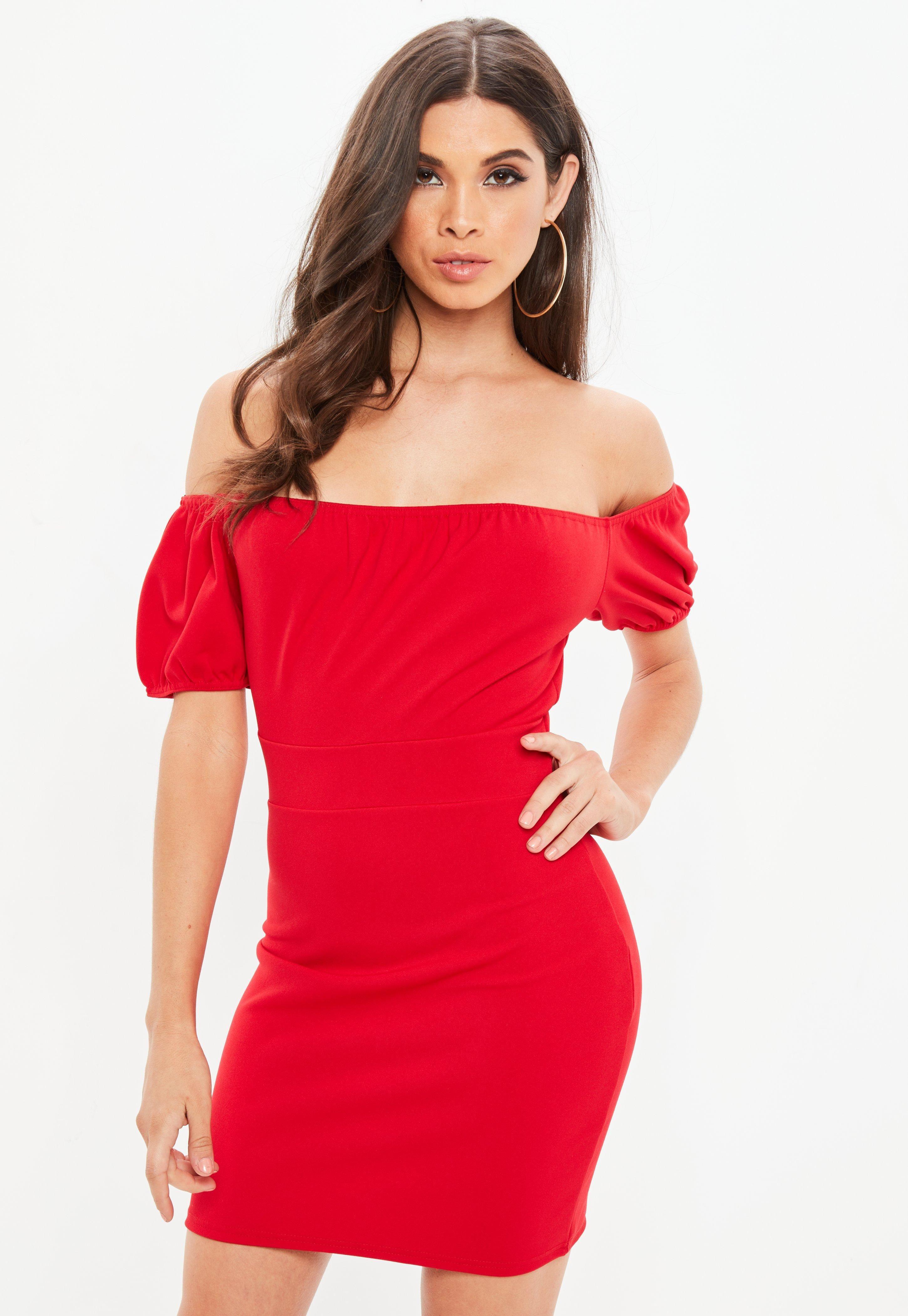 2b3e009fe6bb 12/30/18 Brand/Designer: Missguided Material: Elastane /Polyester Dress  Length: Mini-Dress Short Dress Silhouette: Bodycon Neckline: Bardot Neck