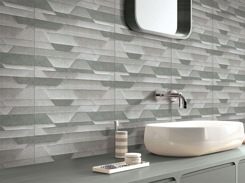 Kajaria Glazed Porcelain Tile Natural Stone Finish Backsplash