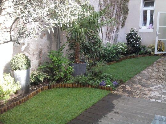 jardin de ville avec terrasse en pierre jardins et terrasses pinterest backyard and gardens. Black Bedroom Furniture Sets. Home Design Ideas