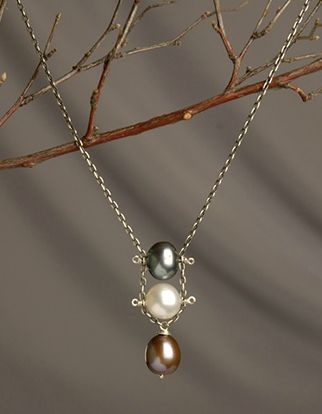 DIY Jewelry Making - How to Make a Simple Necklace + Tutorial . #pearljewelry