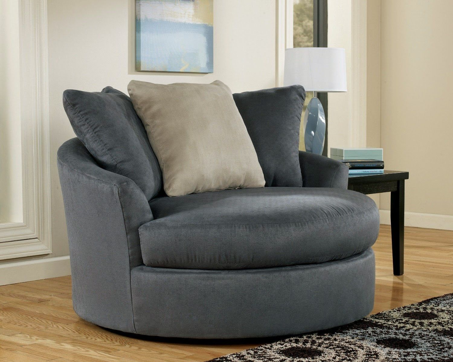 Magnificent Cuddle Couch In 2020 Comfortable Living Room Chairs Round Sofa Chair Swivel Chair Living Room