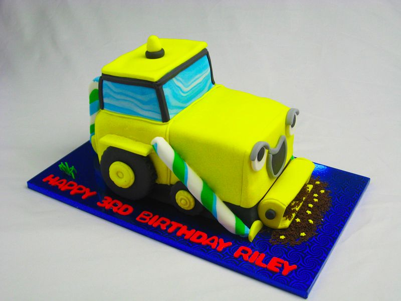Construction Party Bulldozer Birthday Cake Cake Sisters Brisbane