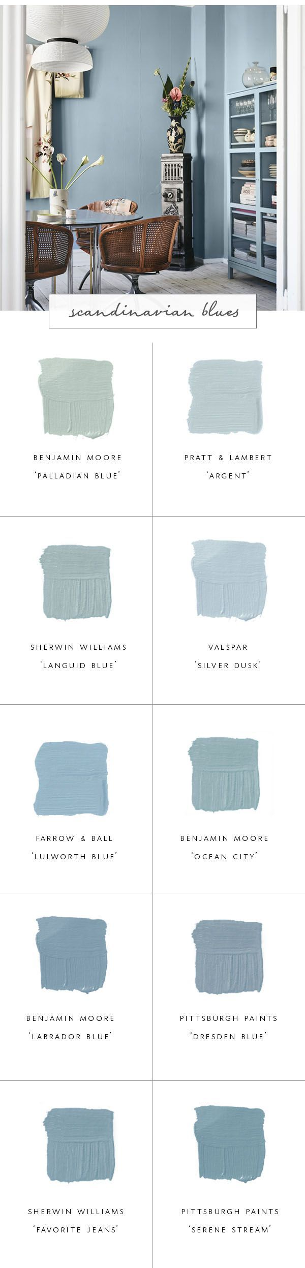 10 Perfect Scandinavian Blue Paint Colors For Your Home Coco Kelley Scandinavian Style Home Blue Paint Colors Blue Paint