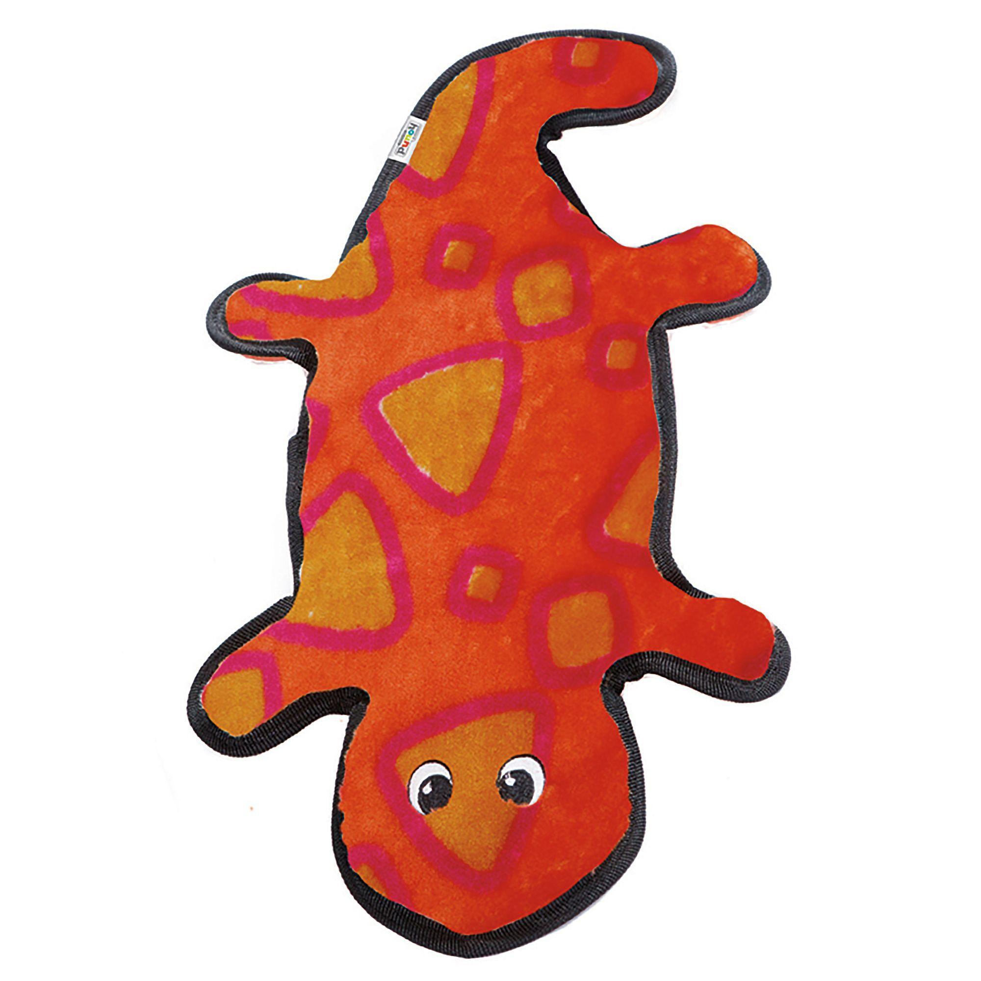Outward Hound Invincibles Gecko Dog Toy Squeaker size