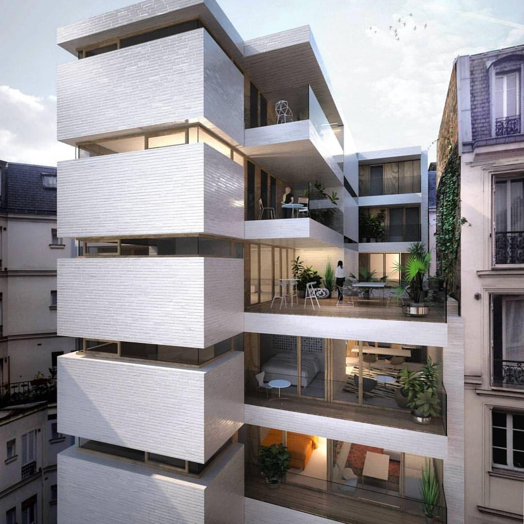 Bekijk deze instagram foto van 10 for Arquitectura departamentos modernos