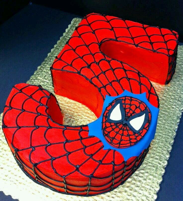 Pin By Rosi On Tartas Pinterest Cake Birthdays And Spiderman - 5th birthday cake boy