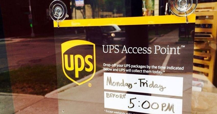 The UPS Drop Off points number over 40,000 in the country