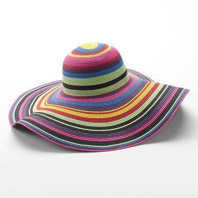 d5999590829 Apt. 9 Rainbow Striped Floppy Hat