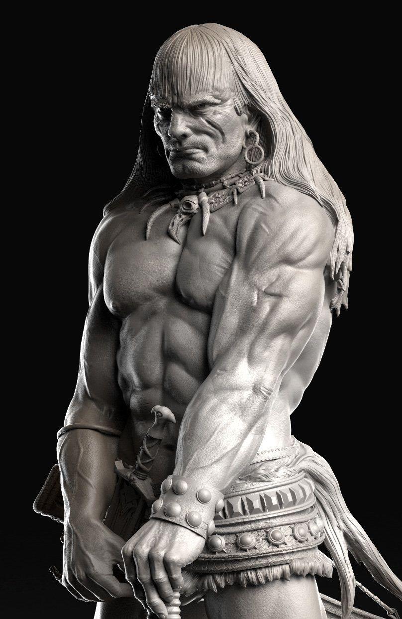ArtStation - - Frazetta's Barbarian - Conan, Caleb Nefzen ...