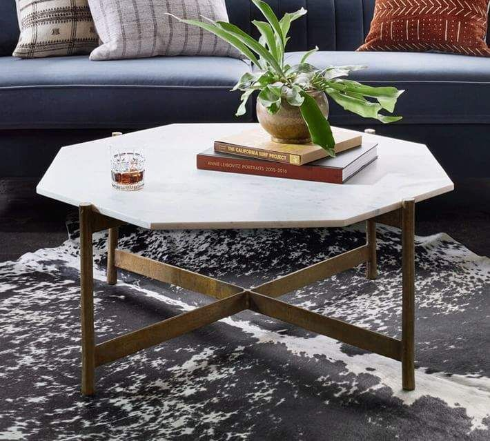Montague Marble Bunching Coffee Table Coffee Table Pottery Barn Marble Top Coffee Table Decorating Coffee Tables