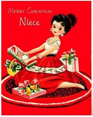 Merry Christmas Niece.Early 60s Merry Christmas Niece Everything Christmas