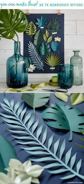 Photo of A DIY papercut botanical poster to add a tropical touch to your home